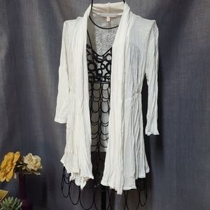 Charlotte Russe Tops - Charlotte Russe Lace Back 3/4 Sleeve Cardigan